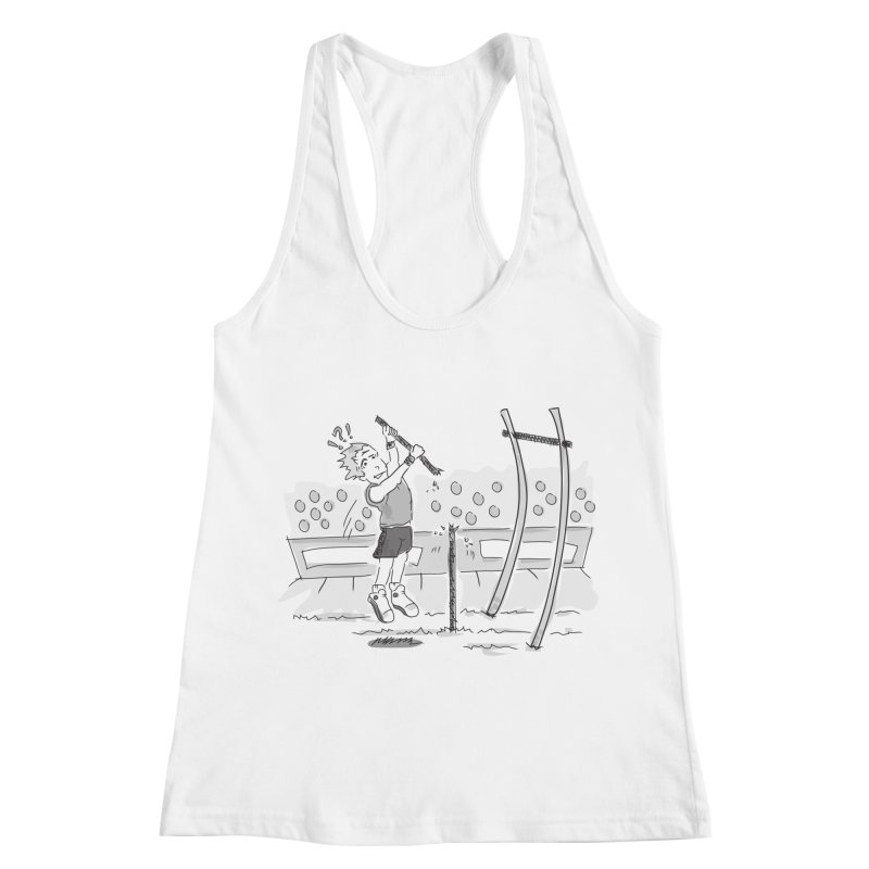 Pole Vaulting Women's Racerback Tank by Turkeylegsray's Artist Shop