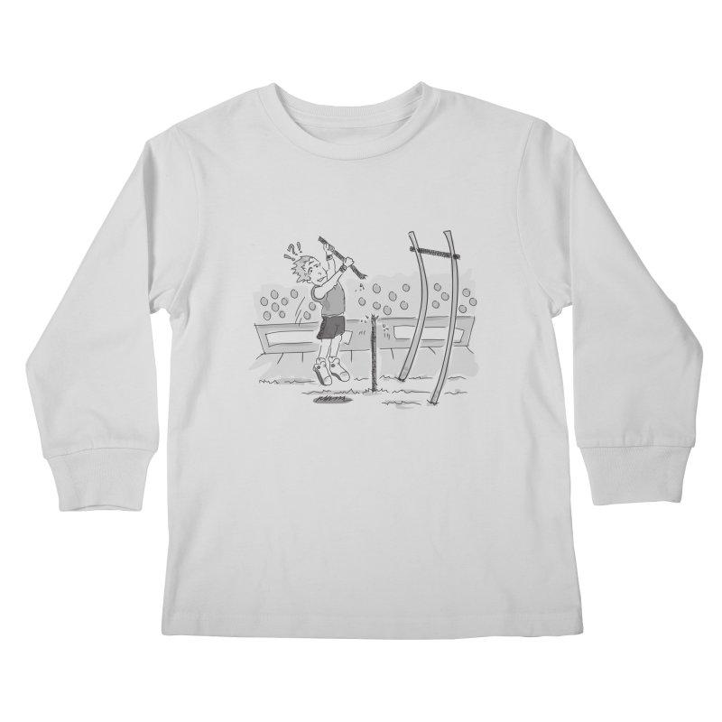 Pole Vaulting Kids Longsleeve T-Shirt by Turkeylegsray's Artist Shop