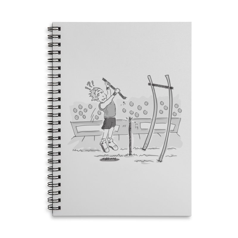 Pole Vaulting Accessories Lined Spiral Notebook by Turkeylegsray's Artist Shop