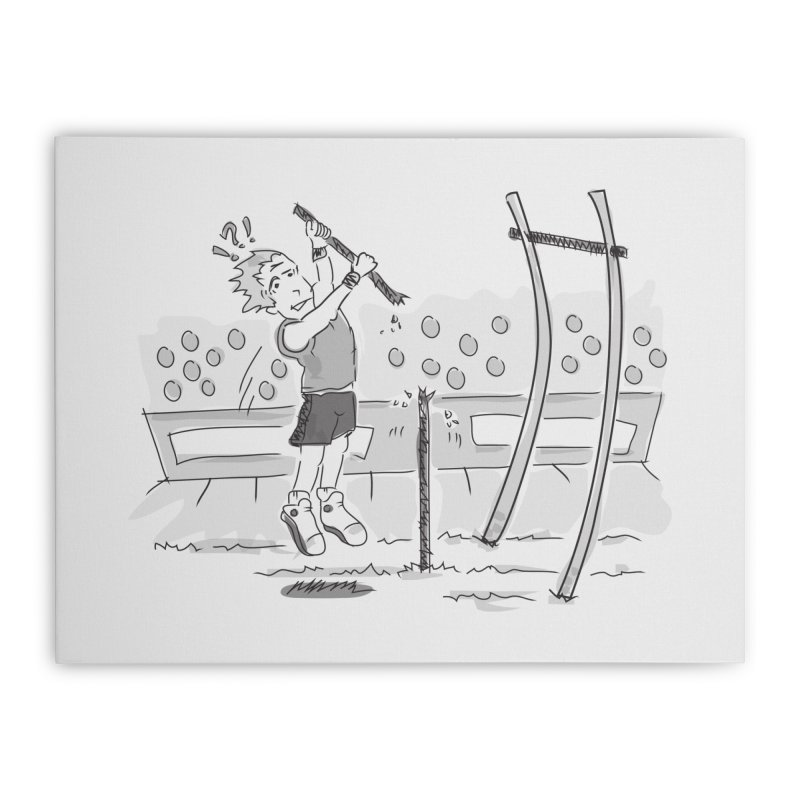 Pole Vaulting Home Stretched Canvas by Turkeylegsray's Artist Shop