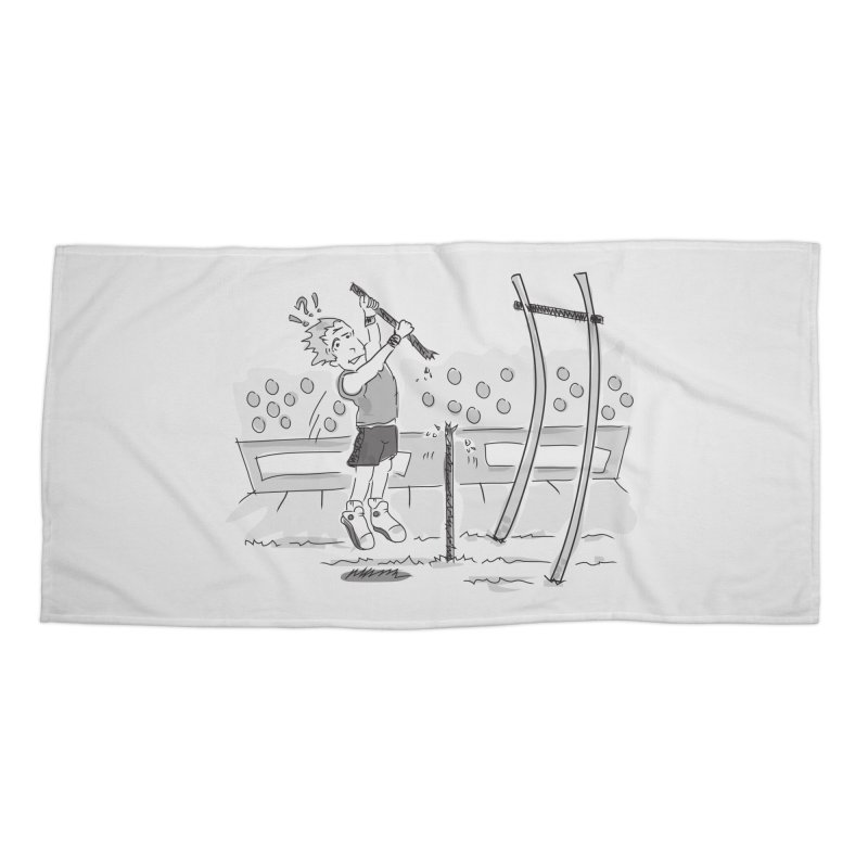 Pole Vaulting Accessories Beach Towel by Turkeylegsray's Artist Shop