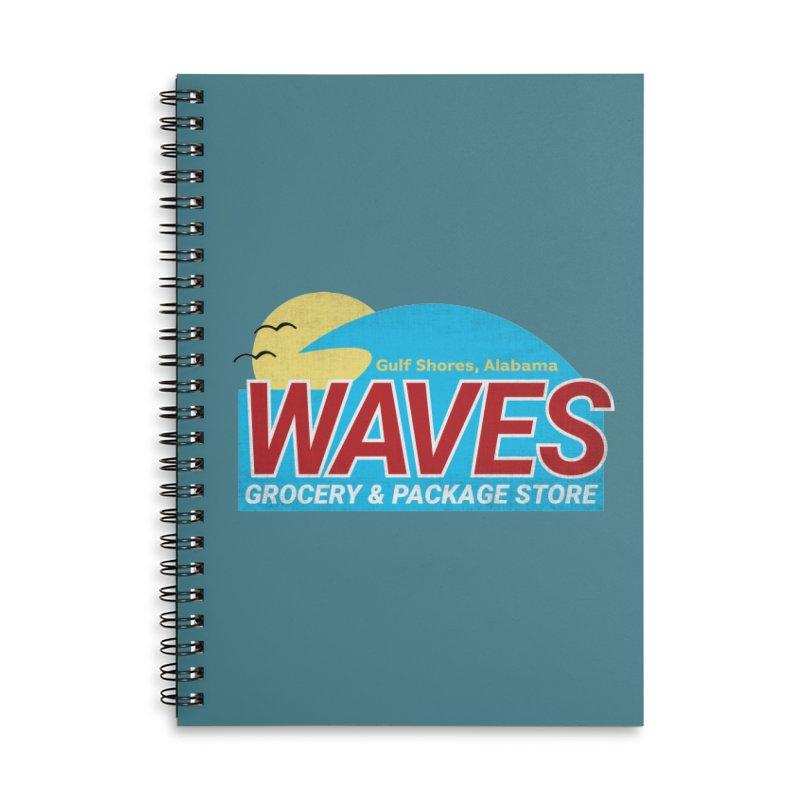 WAVES Accessories Lined Spiral Notebook by Turkeylegsray's Artist Shop