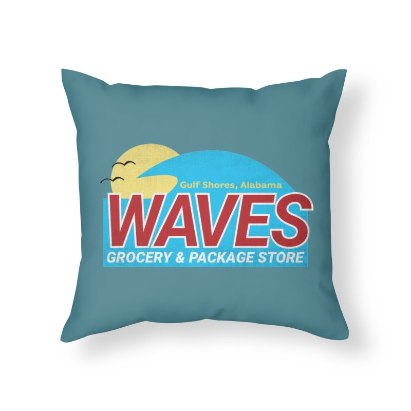 WAVES Home Throw Pillow by Turkeylegsray's Artist Shop