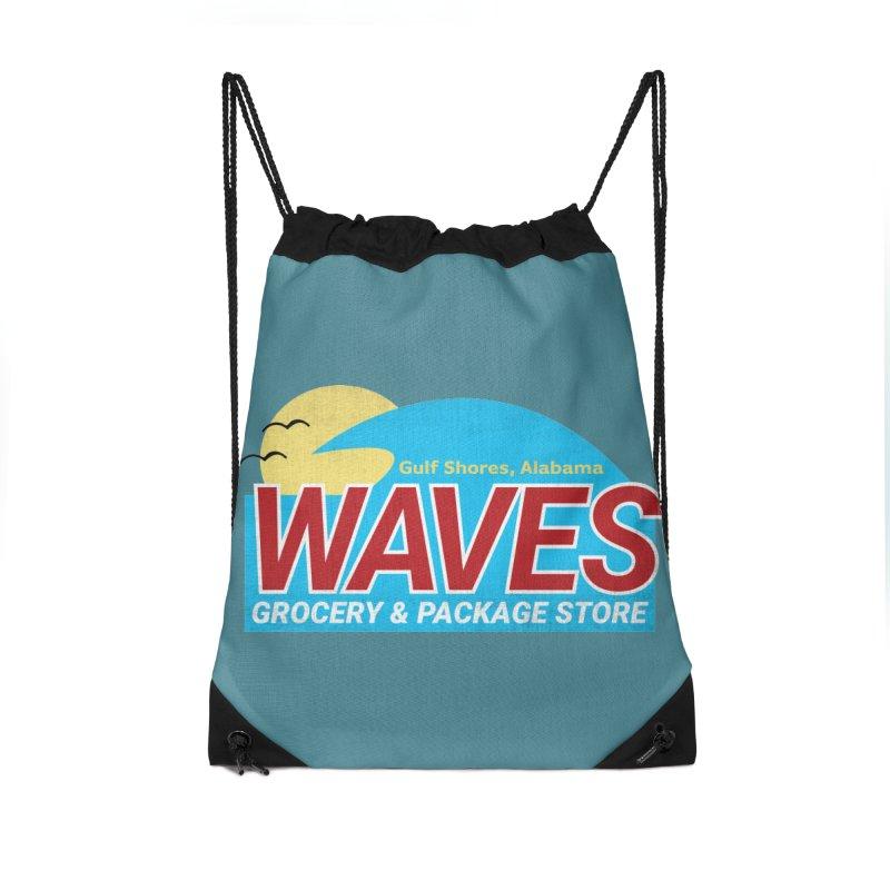 WAVES Accessories Drawstring Bag Bag by Turkeylegsray's Artist Shop