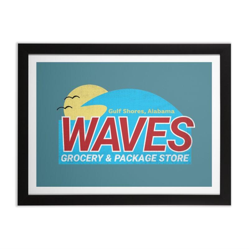 WAVES Home Framed Fine Art Print by Turkeylegsray's Artist Shop