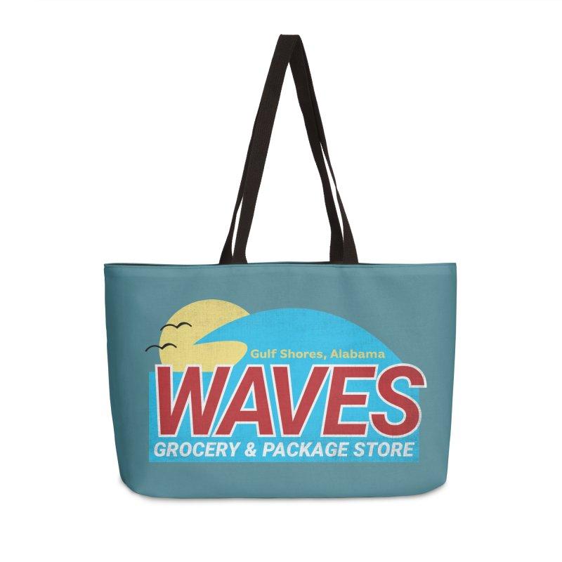 WAVES Accessories Weekender Bag Bag by Turkeylegsray's Artist Shop