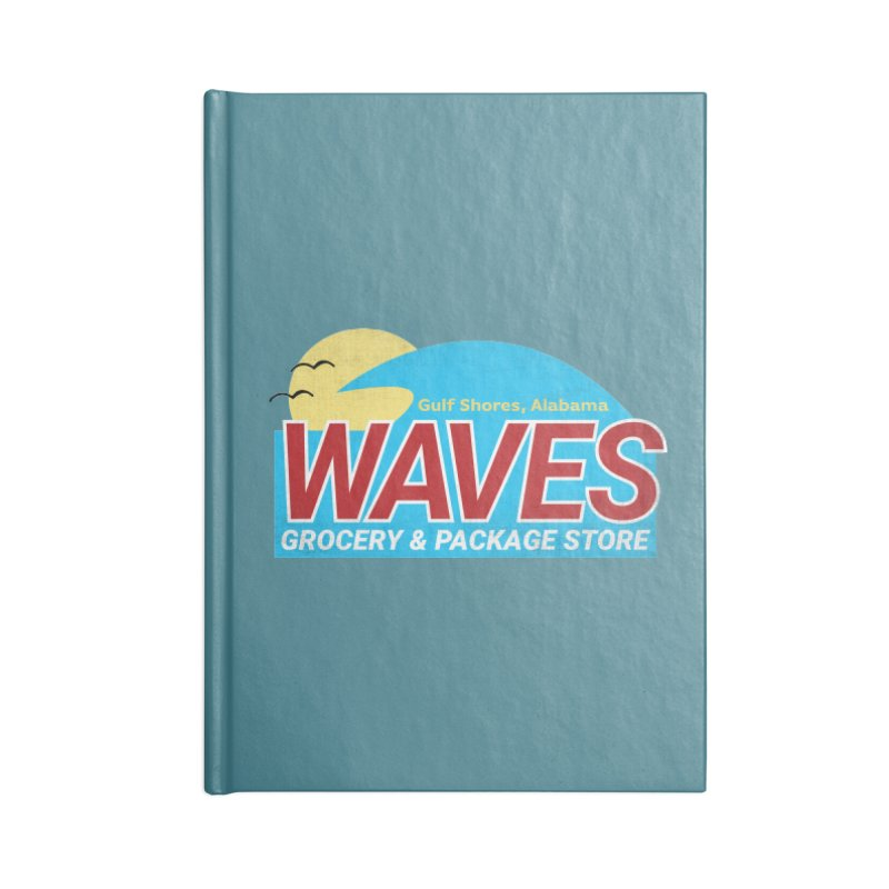WAVES Accessories Lined Journal Notebook by Turkeylegsray's Artist Shop
