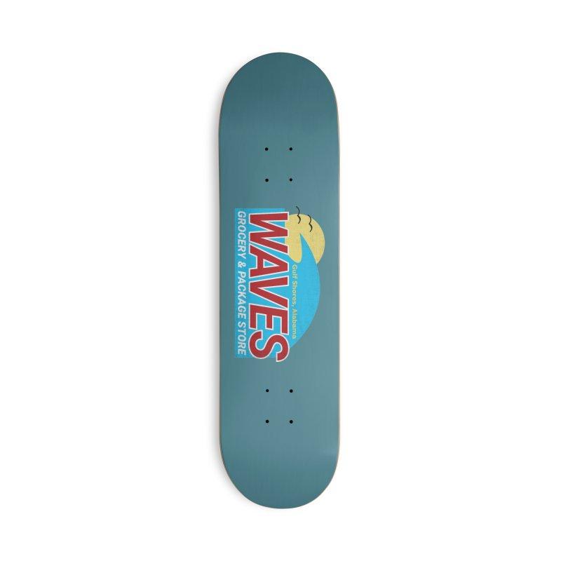 WAVES Accessories Deck Only Skateboard by Turkeylegsray's Artist Shop