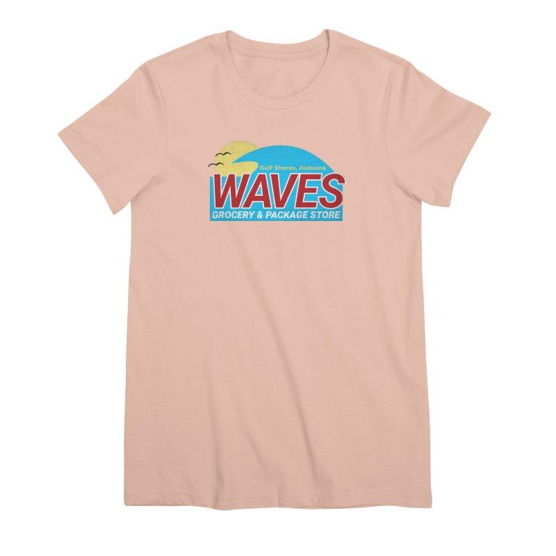 WAVES Women's Premium T-Shirt by Turkeylegsray's Artist Shop