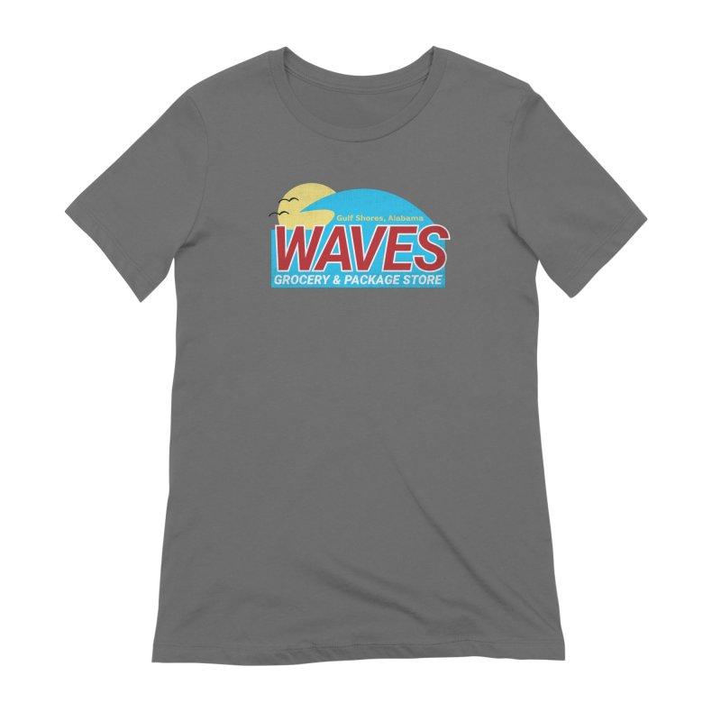 WAVES Women's Extra Soft T-Shirt by Turkeylegsray's Artist Shop