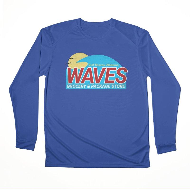 WAVES Men's Performance Longsleeve T-Shirt by Turkeylegsray's Artist Shop