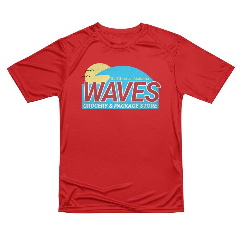 WAVES Men's Performance T-Shirt by Turkeylegsray's Artist Shop
