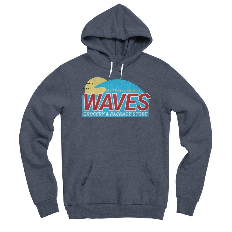 WAVES Women's Sponge Fleece Pullover Hoody by Turkeylegsray's Artist Shop