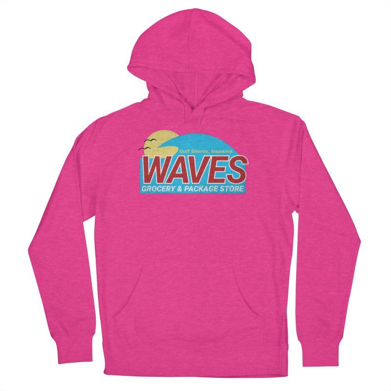 WAVES Women's French Terry Pullover Hoody by Turkeylegsray's Artist Shop