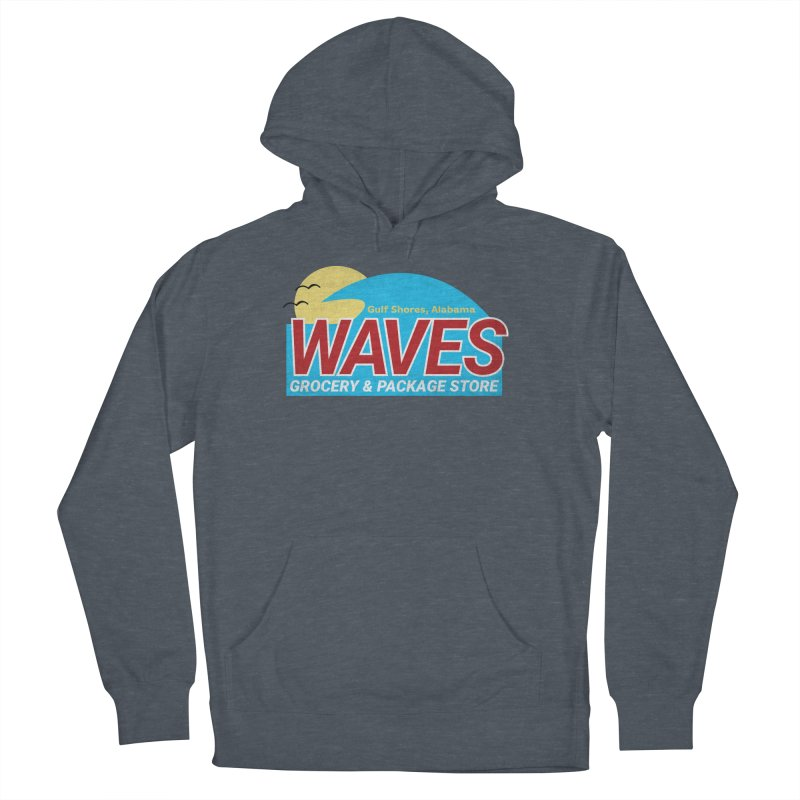 WAVES Men's French Terry Pullover Hoody by Turkeylegsray's Artist Shop