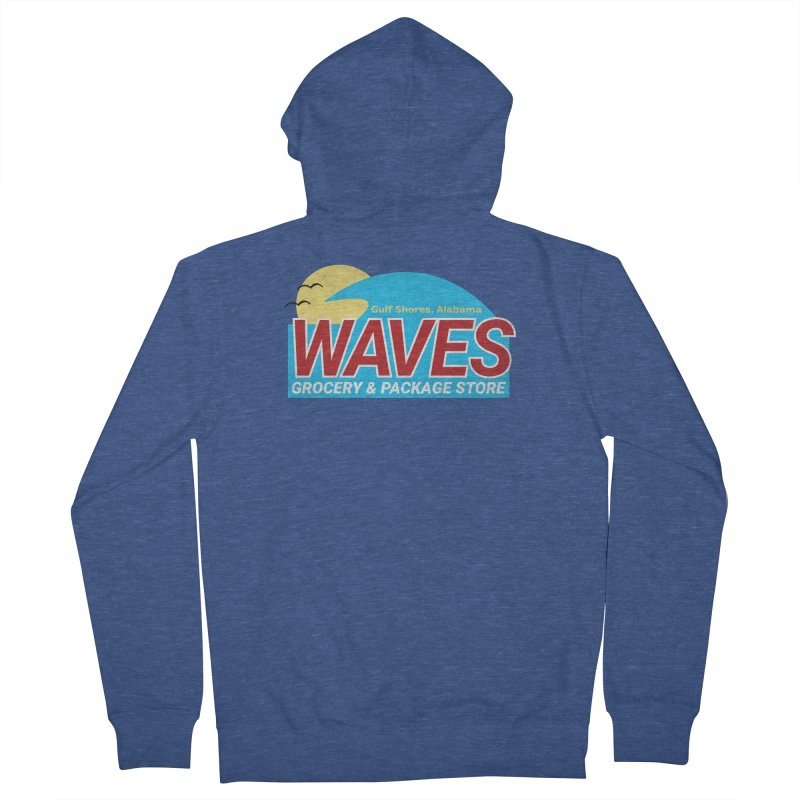 WAVES Women's French Terry Zip-Up Hoody by Turkeylegsray's Artist Shop