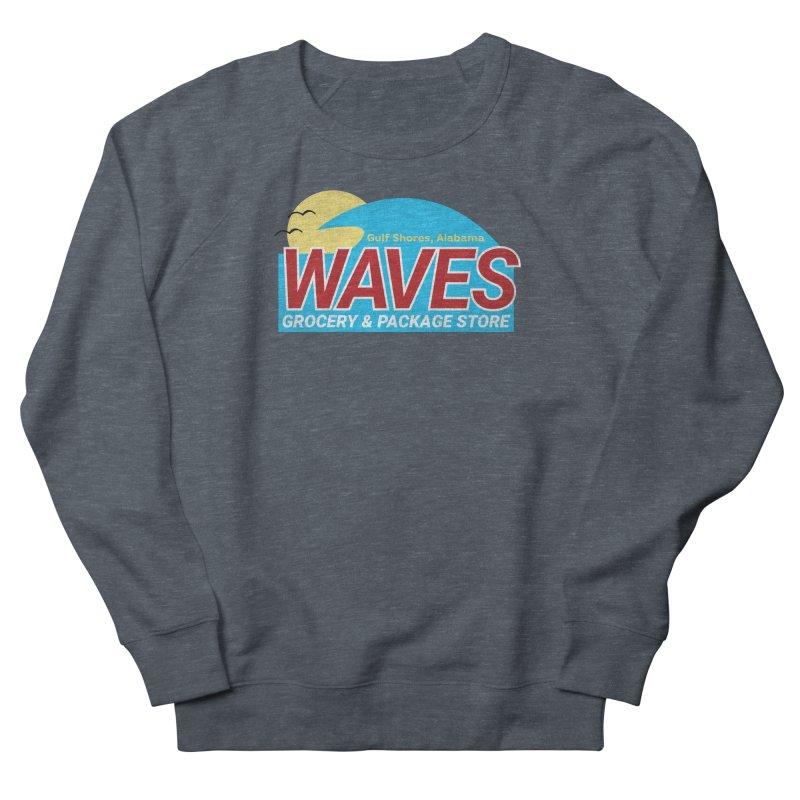 WAVES Men's French Terry Sweatshirt by Turkeylegsray's Artist Shop