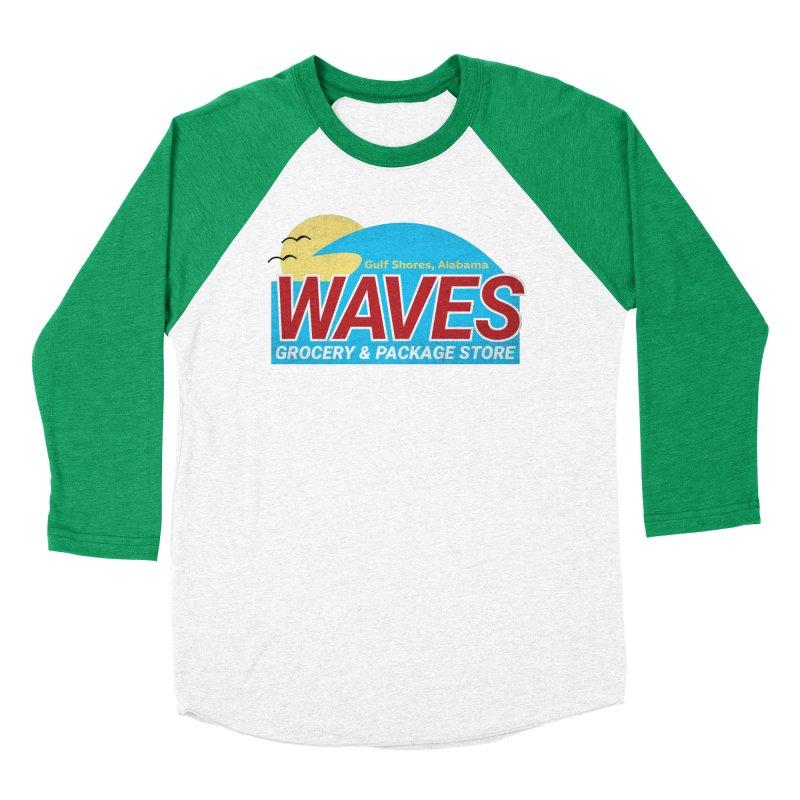 WAVES Women's Baseball Triblend Longsleeve T-Shirt by Turkeylegsray's Artist Shop