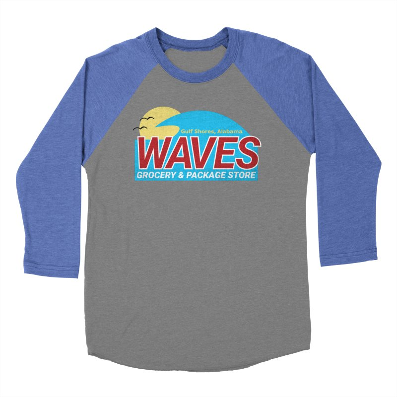WAVES Women's Baseball Triblend Longsleeve T-Shirt by Turkeylegsray's Artist Shop