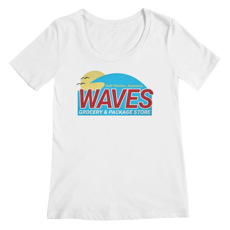 WAVES Women's Regular Scoop Neck by Turkeylegsray's Artist Shop