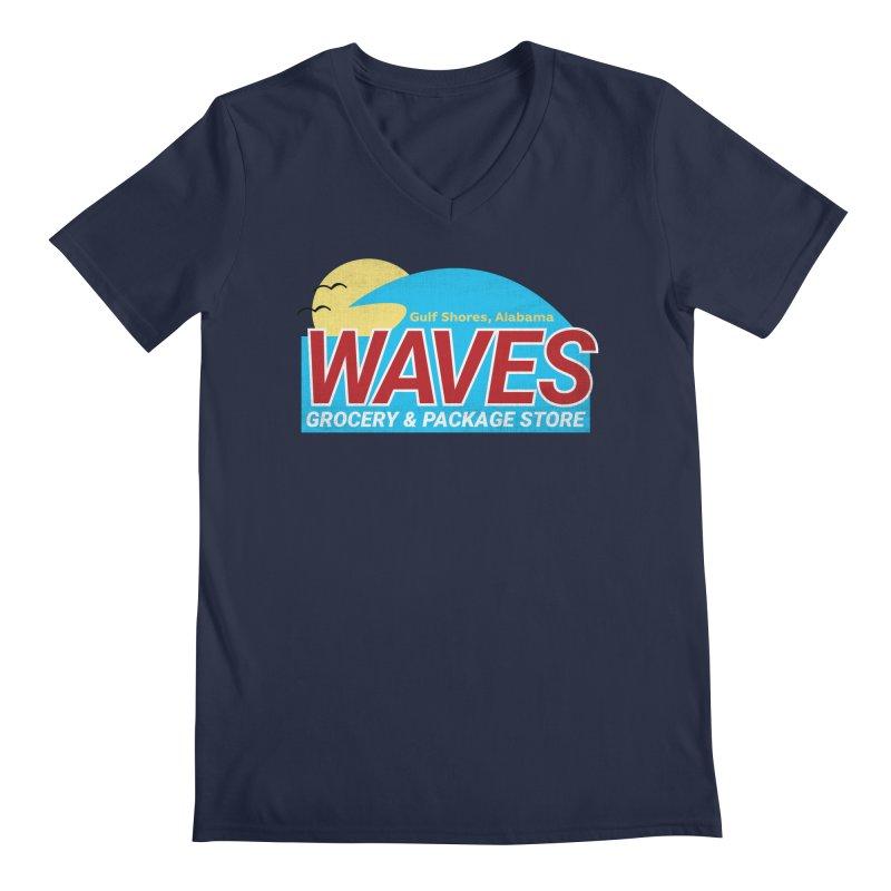 WAVES Men's Regular V-Neck by Turkeylegsray's Artist Shop