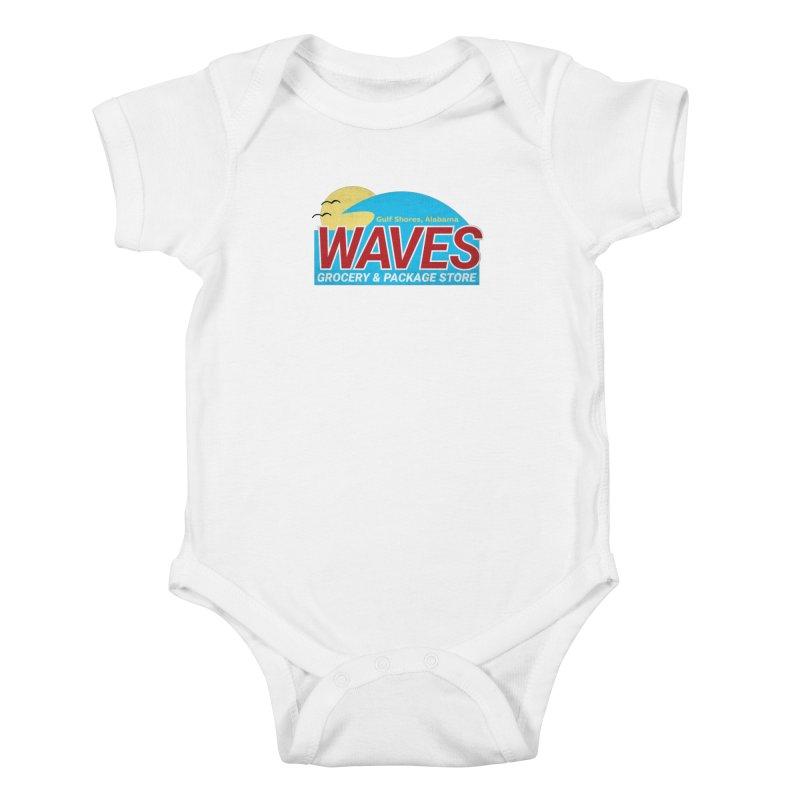 WAVES Kids Baby Bodysuit by Turkeylegsray's Artist Shop