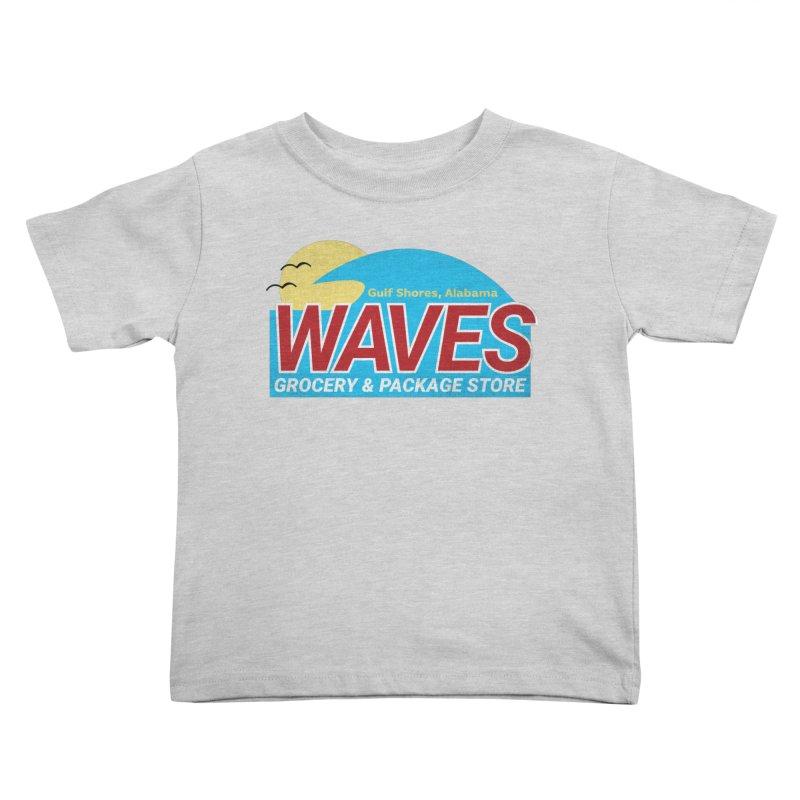 WAVES Kids Toddler T-Shirt by Turkeylegsray's Artist Shop