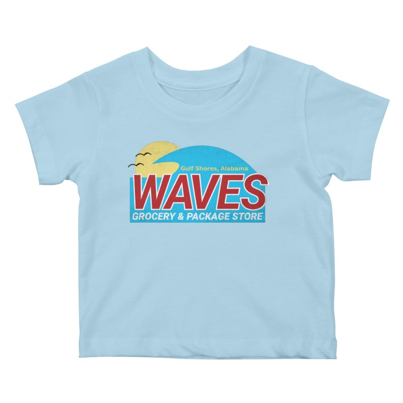 WAVES Kids Baby T-Shirt by Turkeylegsray's Artist Shop