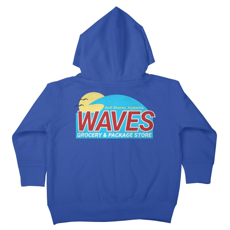 WAVES Kids Toddler Zip-Up Hoody by Turkeylegsray's Artist Shop