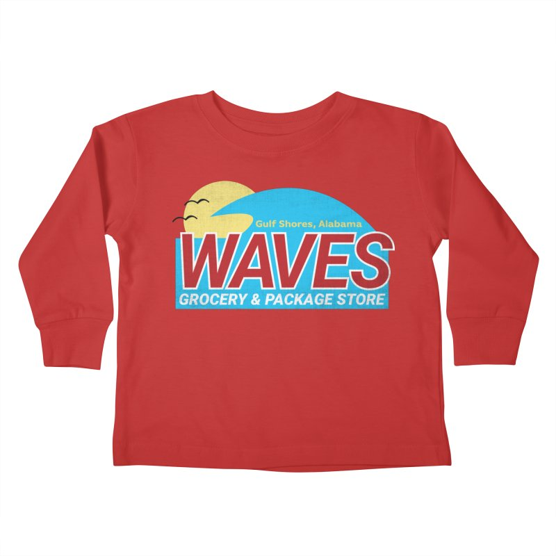 WAVES Kids Toddler Longsleeve T-Shirt by Turkeylegsray's Artist Shop