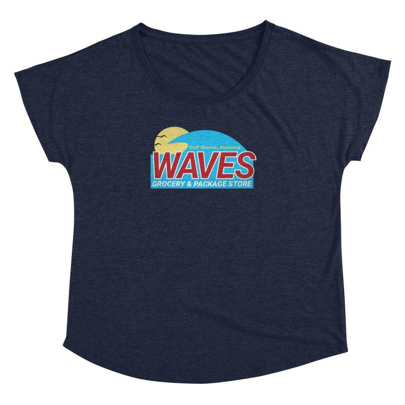 WAVES Women's Dolman Scoop Neck by Turkeylegsray's Artist Shop