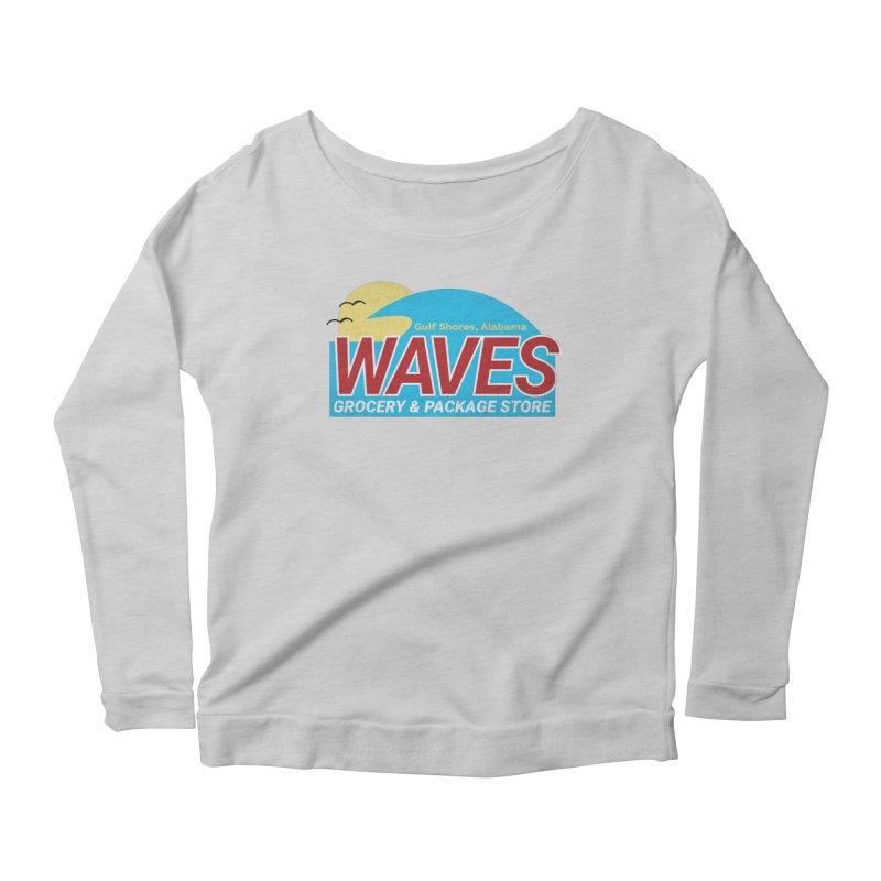 WAVES Women's Scoop Neck Longsleeve T-Shirt by Turkeylegsray's Artist Shop