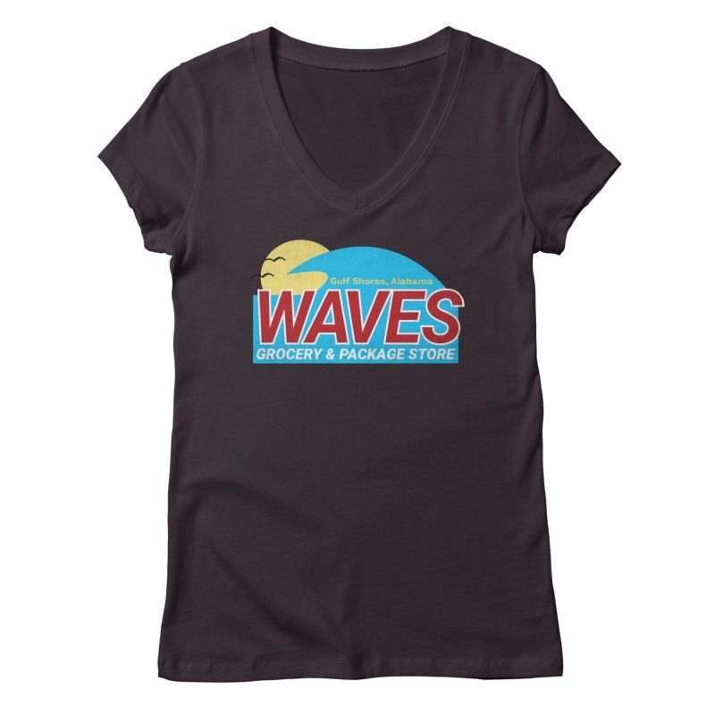 WAVES Women's Regular V-Neck by Turkeylegsray's Artist Shop