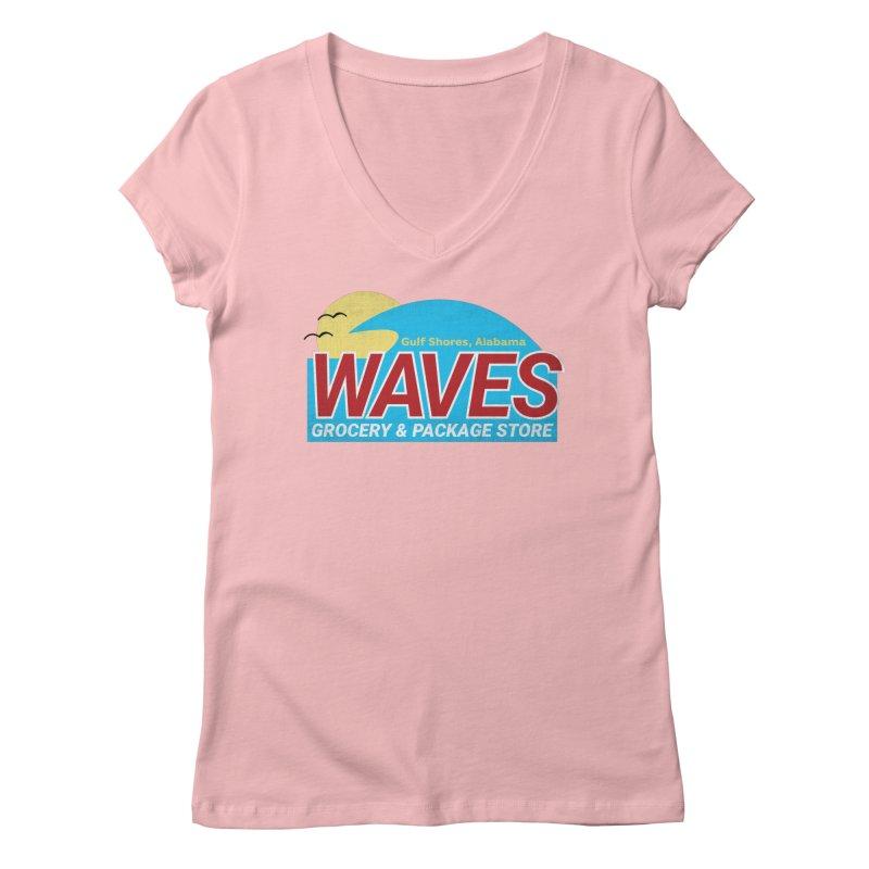 WAVES Women's Regular V-Neck by Turkeylegsray's Artist Shop