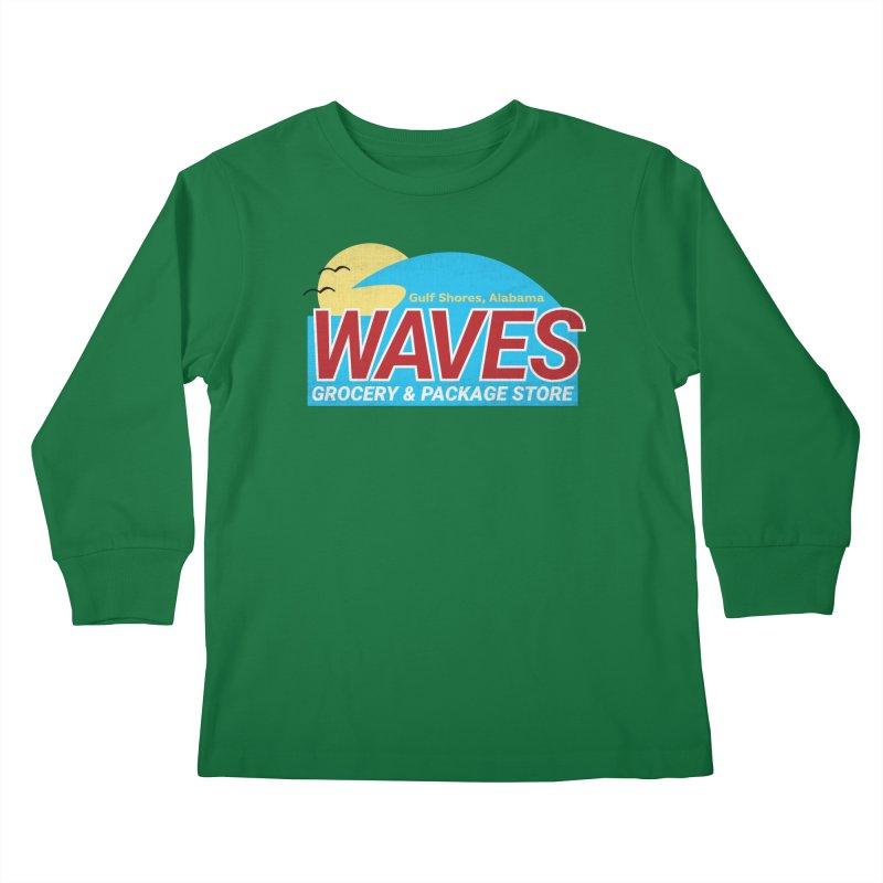 WAVES Kids Longsleeve T-Shirt by Turkeylegsray's Artist Shop