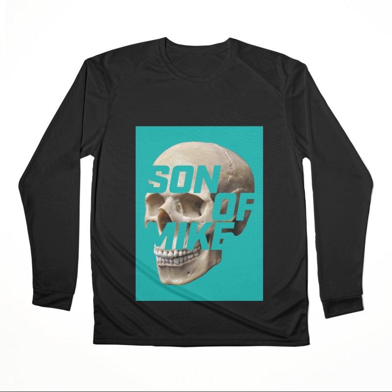 "SON OF MIKE ""Mint Skull"" Men's Performance Longsleeve T-Shirt by Turkeylegsray's Artist Shop"