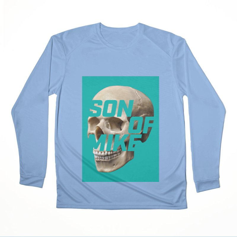 "SON OF MIKE ""Mint Skull"" Women's Performance Unisex Longsleeve T-Shirt by Turkeylegsray's Artist Shop"