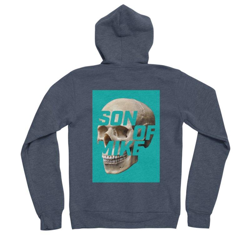 """SON OF MIKE """"Mint Skull"""" Men's Sponge Fleece Zip-Up Hoody by Turkeylegsray's Artist Shop"""