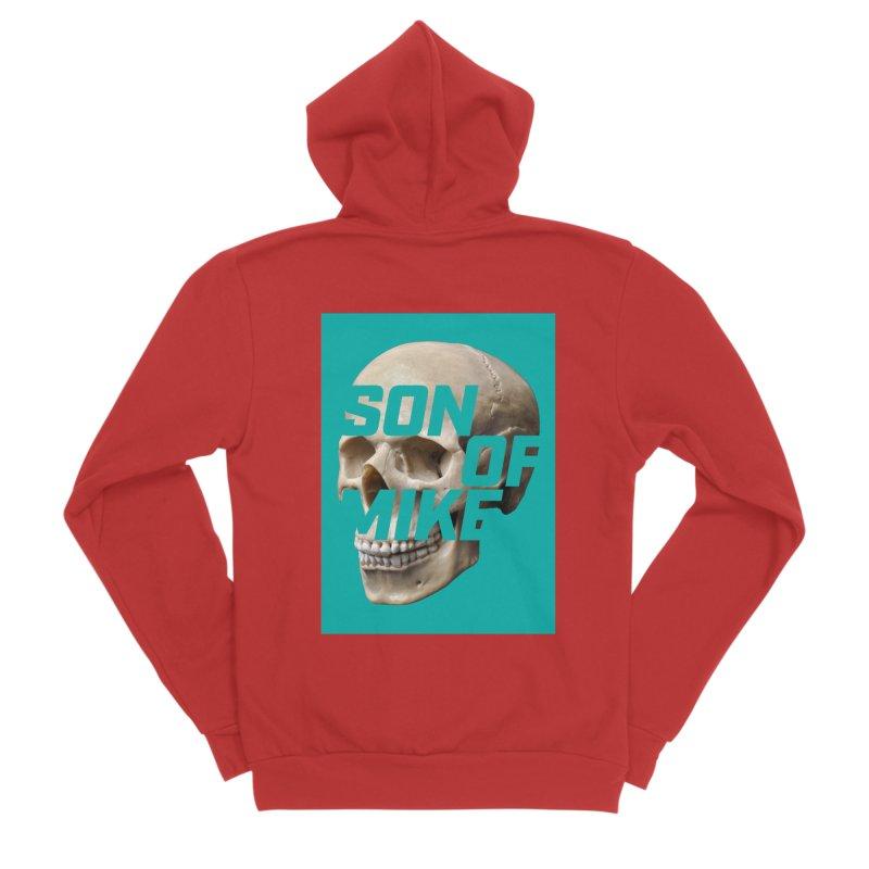 """SON OF MIKE """"Mint Skull"""" Women's Sponge Fleece Zip-Up Hoody by Turkeylegsray's Artist Shop"""