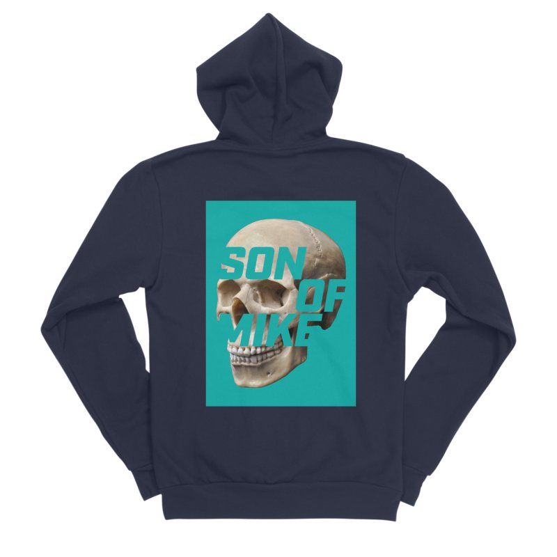 "SON OF MIKE ""Mint Skull"" Men's Sponge Fleece Zip-Up Hoody by Turkeylegsray's Artist Shop"