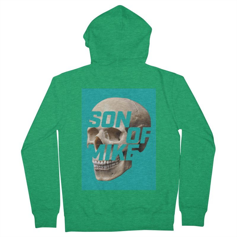 "SON OF MIKE ""Mint Skull"" Women's French Terry Zip-Up Hoody by Turkeylegsray's Artist Shop"