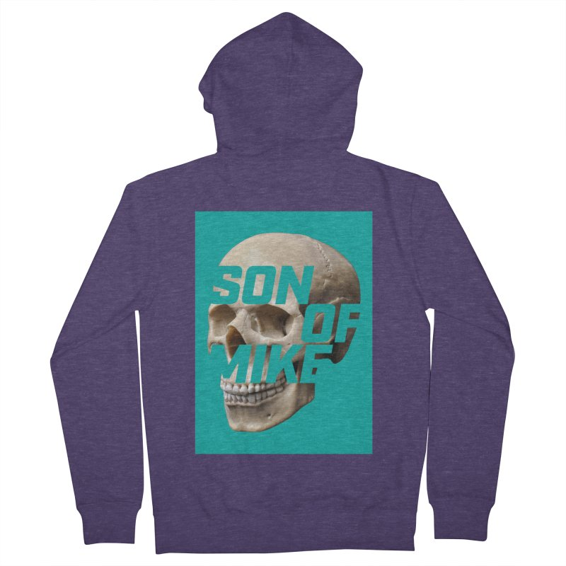 "SON OF MIKE ""Mint Skull"" Men's French Terry Zip-Up Hoody by Turkeylegsray's Artist Shop"