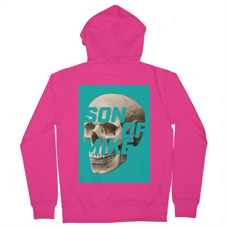 """SON OF MIKE """"Mint Skull"""" Men's French Terry Zip-Up Hoody by Turkeylegsray's Artist Shop"""