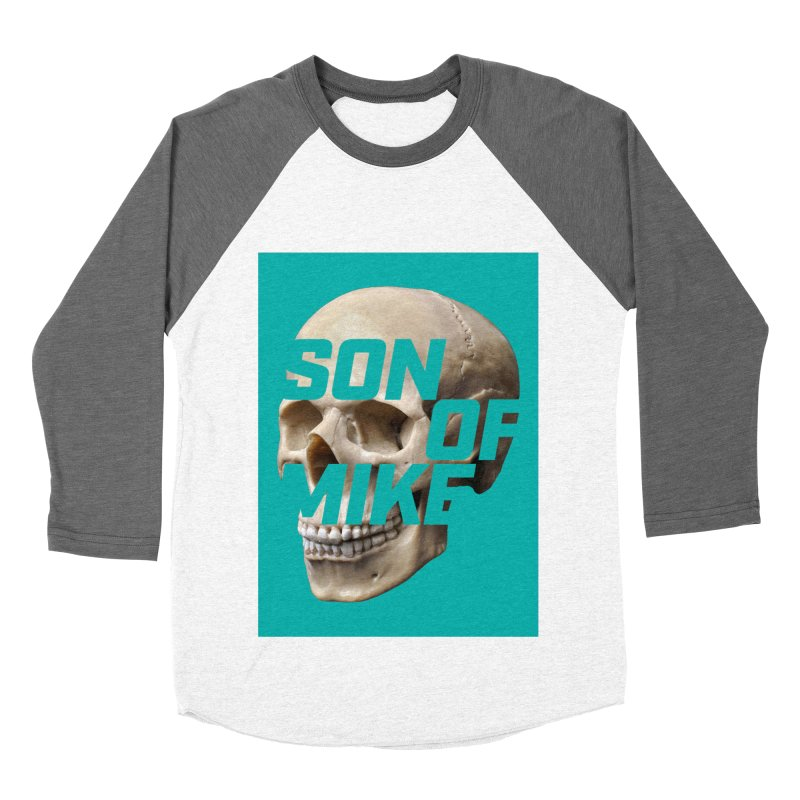 "SON OF MIKE ""Mint Skull"" Women's Baseball Triblend Longsleeve T-Shirt by Turkeylegsray's Artist Shop"