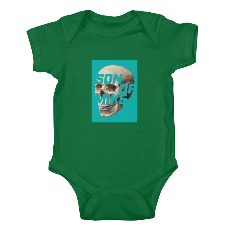 "SON OF MIKE ""Mint Skull"" Kids Baby Bodysuit by Turkeylegsray's Artist Shop"