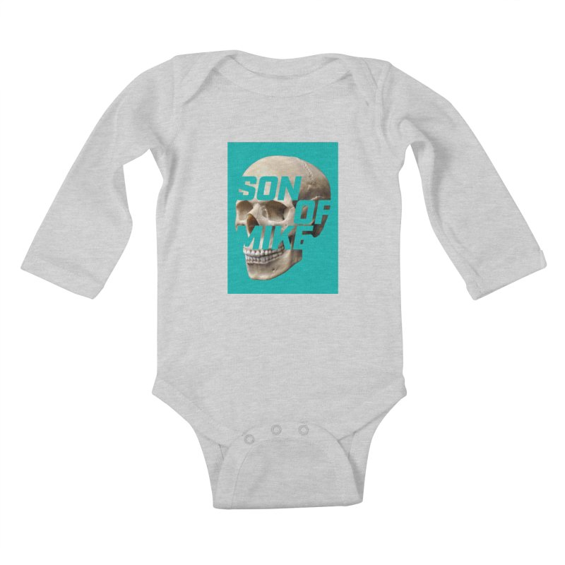 "SON OF MIKE ""Mint Skull"" Kids Baby Longsleeve Bodysuit by Turkeylegsray's Artist Shop"