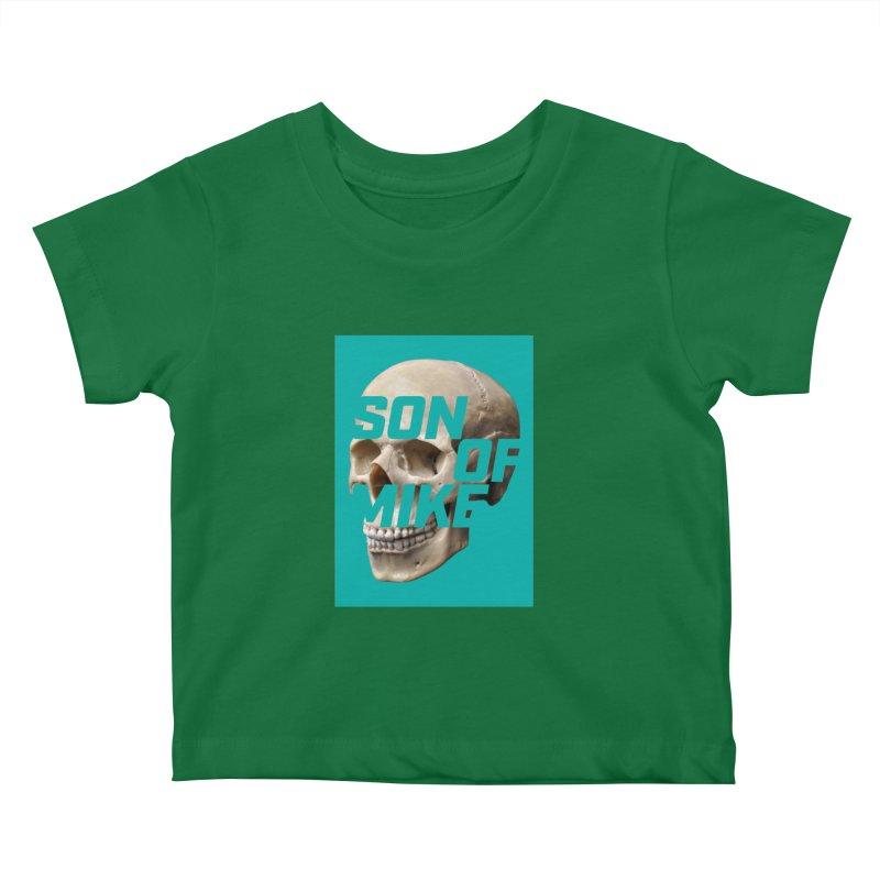 "SON OF MIKE ""Mint Skull"" Kids Baby T-Shirt by Turkeylegsray's Artist Shop"