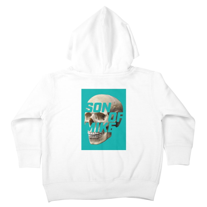 "SON OF MIKE ""Mint Skull"" Kids Toddler Zip-Up Hoody by Turkeylegsray's Artist Shop"