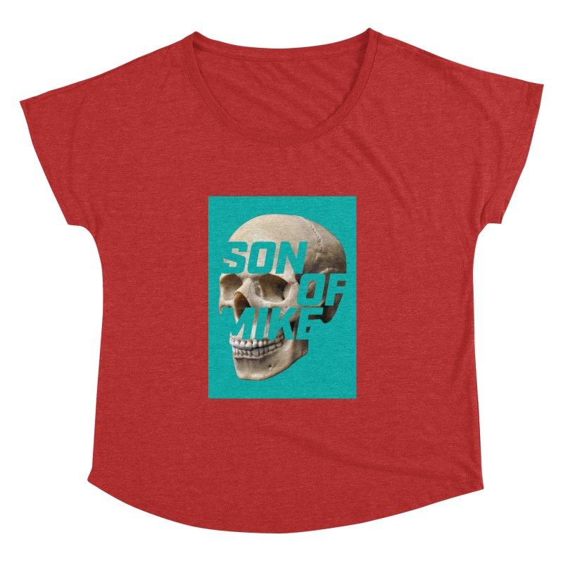 """SON OF MIKE """"Mint Skull"""" Women's Dolman Scoop Neck by Turkeylegsray's Artist Shop"""