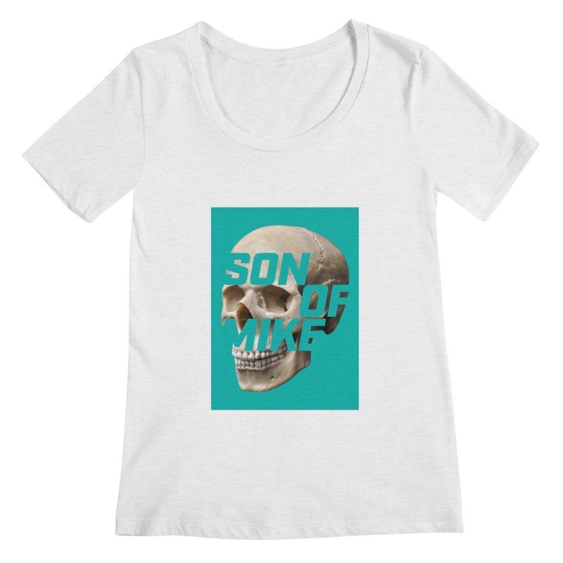 "SON OF MIKE ""Mint Skull"" Women's Regular Scoop Neck by Turkeylegsray's Artist Shop"